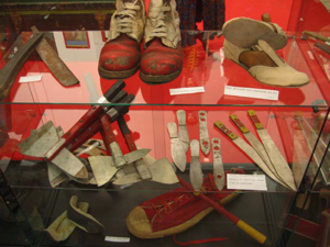 Picture of shoes and knives