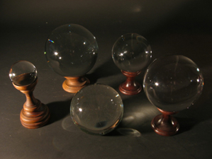 Picture of glass balls and holders