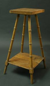 Immagine di Colonnina portafiori in legno finto bambù