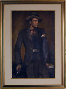 Picture of Pastel painting gentleman by Boyer 1936