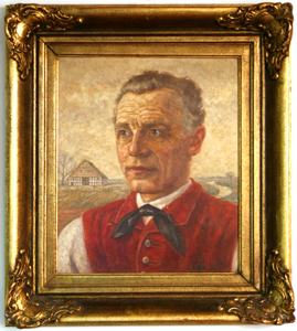 Picture of Oil painting Portrait of a farmer by Mittner
