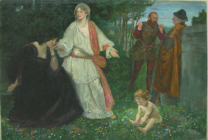 Picture of Oil Painting Allegoric scene by W. Geffcken