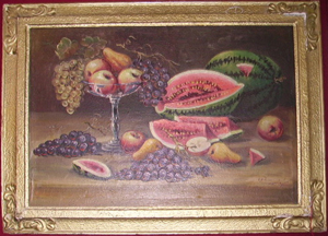 Picture of Oil painting Still life with watermelon
