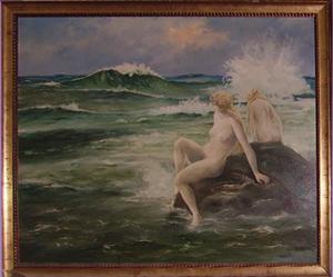 Immagine di Dipinto ad olio Bagnanti di Acciarri