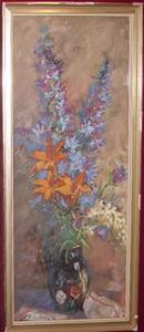 Immagine di Dipinto ad olio Natura morta con gigli di V. Kolatek