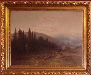 Immagine di Dipinto ad olio Paesaggio montano di M.Muller
