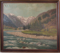 Picture of Oil Painting Alta Val Sesia by Dernini
