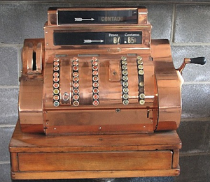 Immagine di registratore di cassa in rame