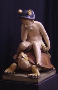 Immagine di Grande figura da giardino in porcellana di Meissen (Fontana Mercurio)