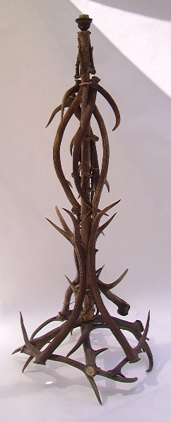 Picture of floor lamp deer antler
