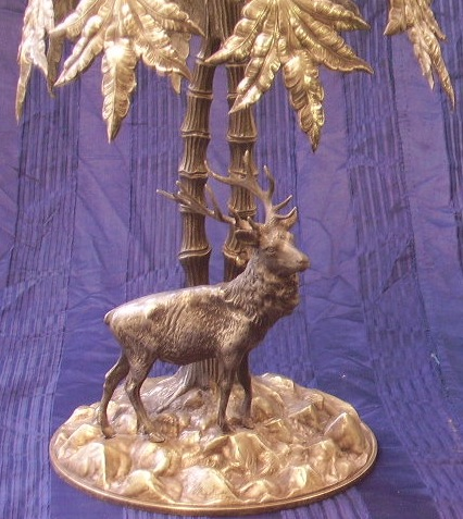 Immagine di Centrotavola metallo argentato e cristallo