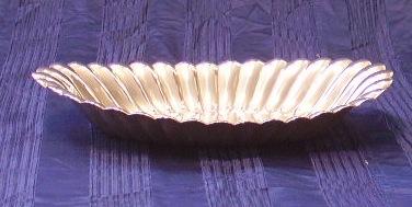 Immagine di Centrotavola metallo argentato ovale