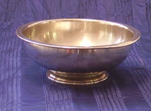 Immagine di ciotola metallo argentato