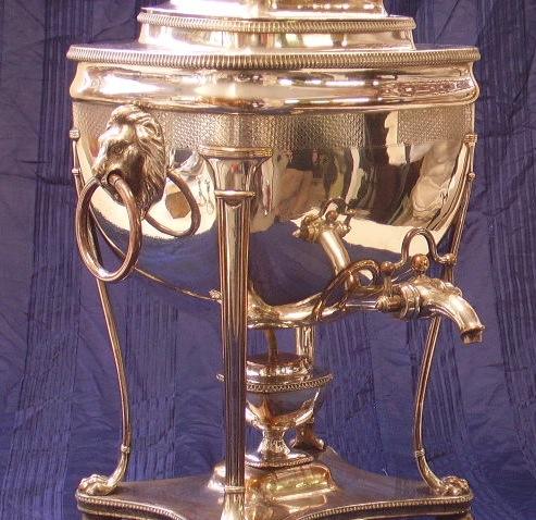 Immagine di samovar metallo argentato