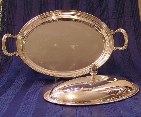 Picture of tray with cover silver platede