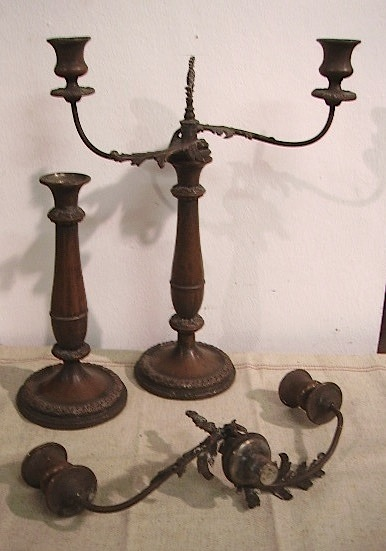 Picture of pair of candelabra in copper