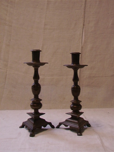 Picture of pair of candlestick in bronze