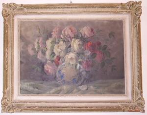 Immagine di Dipinto ad olio Natura morta con rose di G. Guidi
