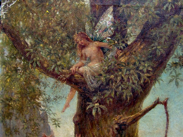 Picture of Oil painting Fairy and pan by Sally von Kugelgen