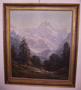 Picture of Oil painting Mountain landscape by Otto Pippel
