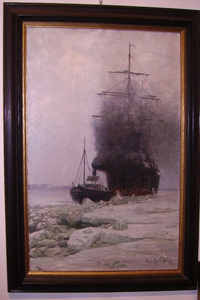 Picture of Oil painting Tug Boat