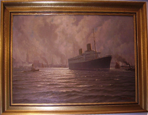 Picture of Oil painting Hamburg harbour