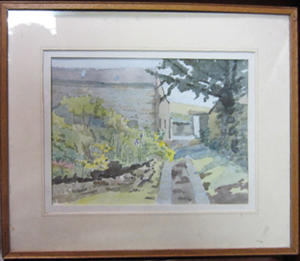 "Picture of Watercolour painting ""In a garden"" by E. Dorothy Pumphey"