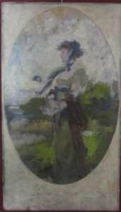 Picture of Oil painting by Johannes Raphael Wehle. Woman