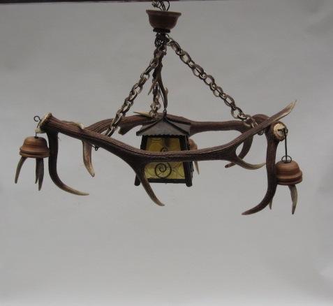 Immagine di lampadario corna cervo - mod 12