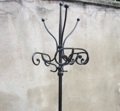 Picture of black cast iron coat stand