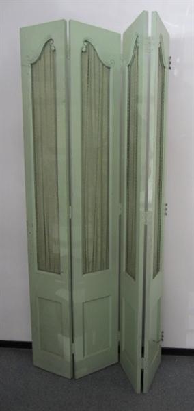 Immagine di Paravento verde con rete metallica
