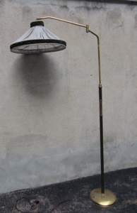 Picture of Floor brass lamp with leather