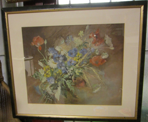 Picture of Watercolour painting Still life with poppies by Dietze