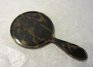 Picture of Tortoise Bakelite  Hand held mirror