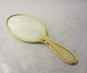Picture of Fake Ivory Hand held mirror