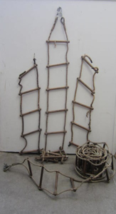 Picture of boarding rope ladder