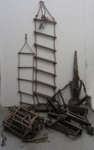 Picture of big boarding rope ladder