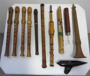 Picture of Recorder, French Traverso Flute, Cornamuto, Xaphoon Bamboo flute, Piston Flute, Piffero, Ocarina,