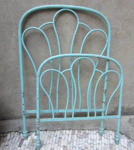 Immagine di Letto singolo in ferro azzurro