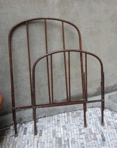 Picture of Brown iron bed