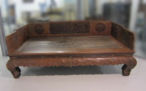 Picture of Carved wooden chinese bed