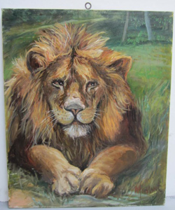 Picture of Oil painting Lion