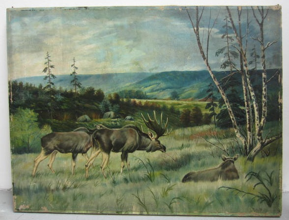 Picture of Oil painting Elk by K.R. P.F.