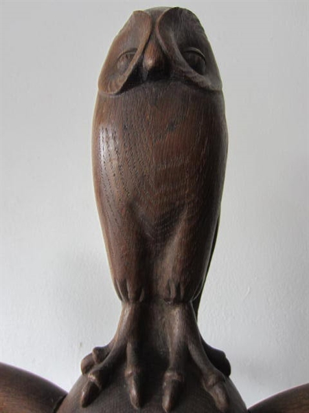 Immagine di Applique in legno scolpito Civetta