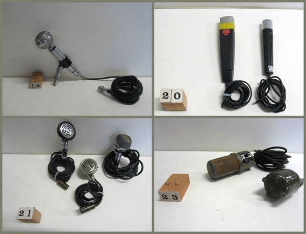 Picture of microphones from n° 19 to n° 23