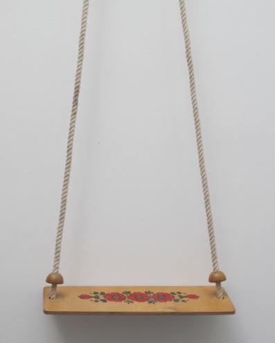 Picture of Swing with painted flowers