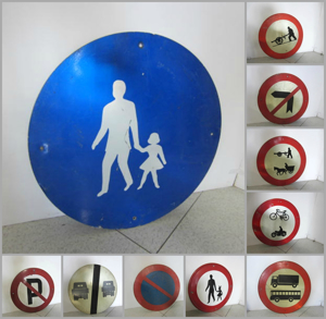 Picture of round road signs