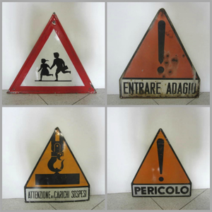 Picture of triangle road signs