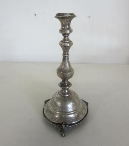 Picture of tall candelstick in silver
