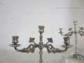 Picture of pair of candelabra in silver plated